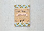 Race Horse Save the Date Wedding Invitat