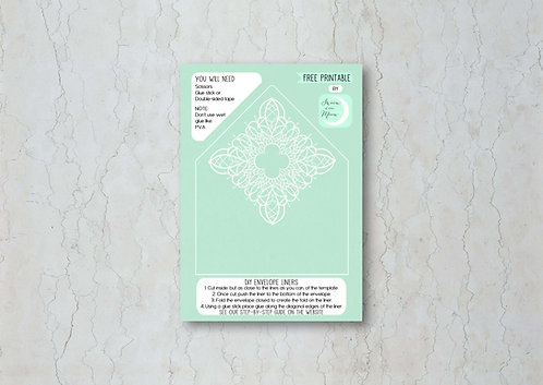 Classic Lace Wedding Invitation Envelope Liner