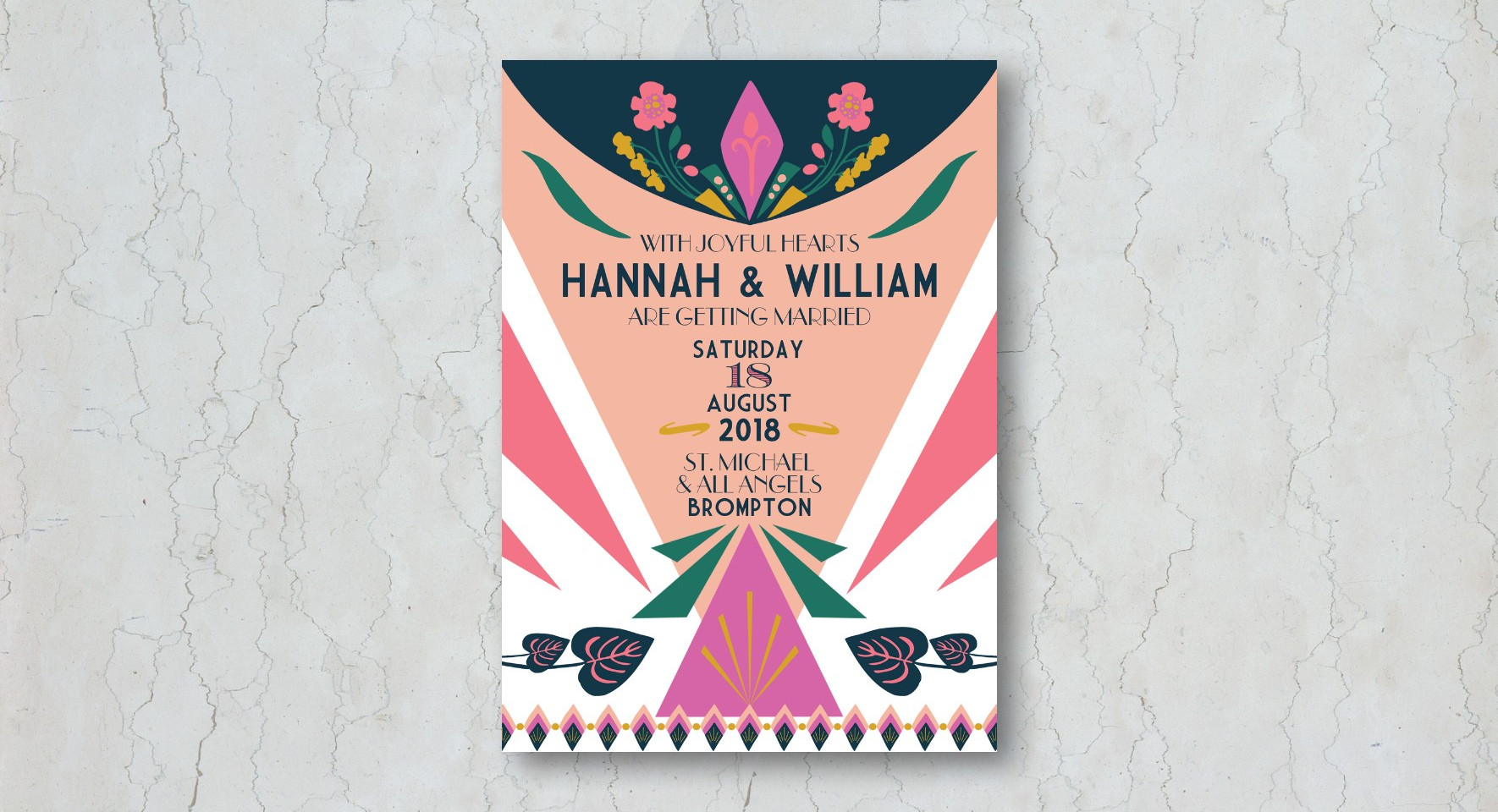 1920s Glam Wedding Invitation