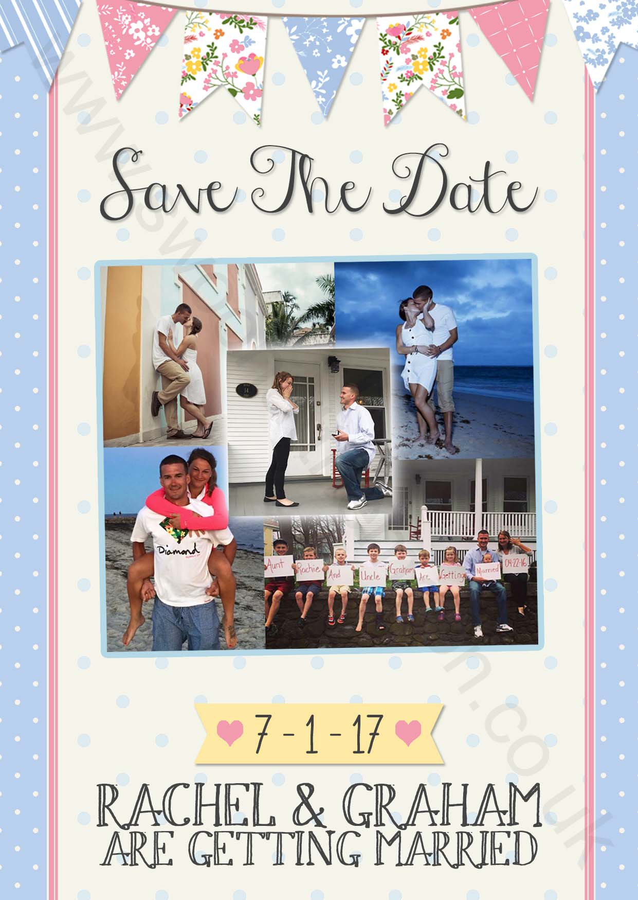 Fete Wedding Save the Date & photo