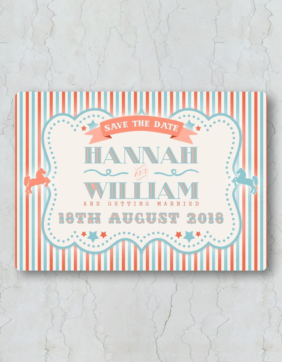 Funfair Save the Date Wedding Invitation