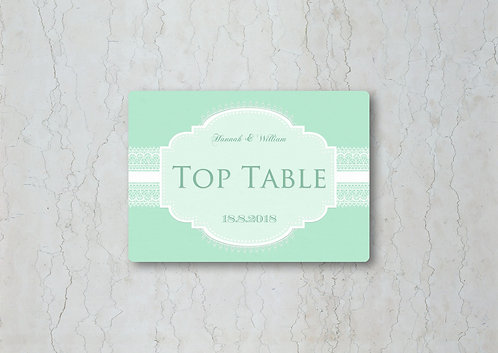 Classic Lace Wedding Table Name