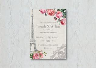Parisian Wedding Invitation