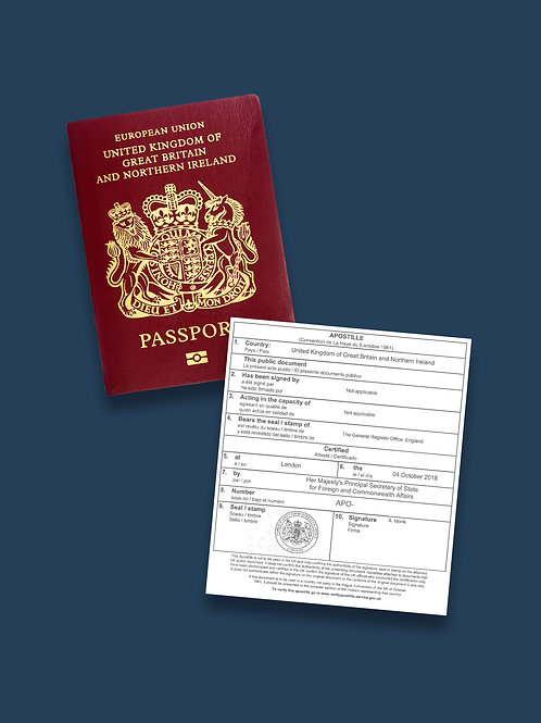 Passport Apostille + Options
