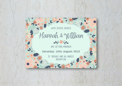 Simply Floral Wedding Invitation