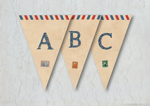 Airmail Wedding Bunting