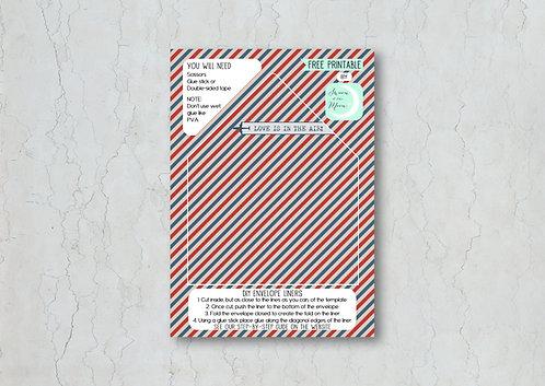Airmail Wedding Invitation Envelope Liner