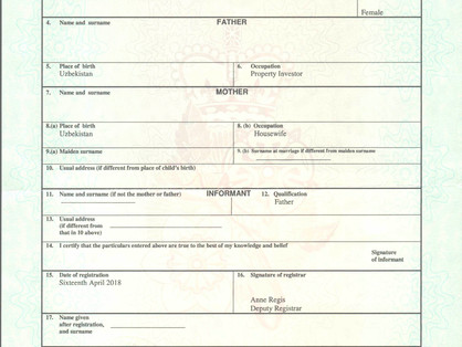 How to apostille a UK Birth Certificate