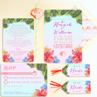 Tropical Wedding Stationery Invitation