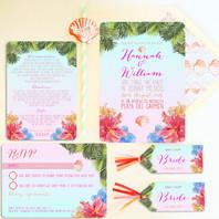 Tropical Wedding Stationery Invitation