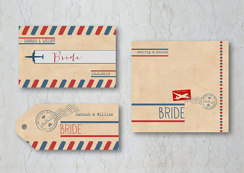 Airmail Wedding Place Cards