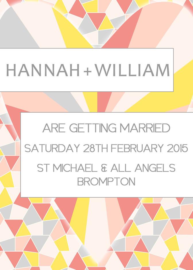 Geometrics Wedding Stationery Invitation Brights