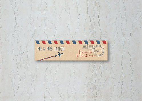Airmail Wedding Straw/Cupcake Flags