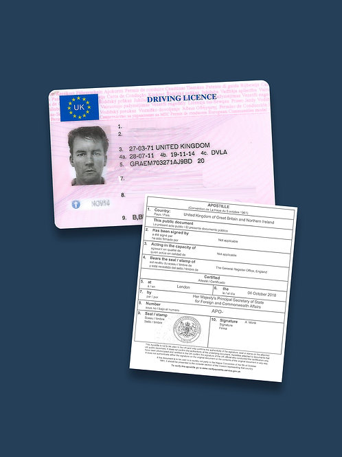 Driving Licence Apostille + Options