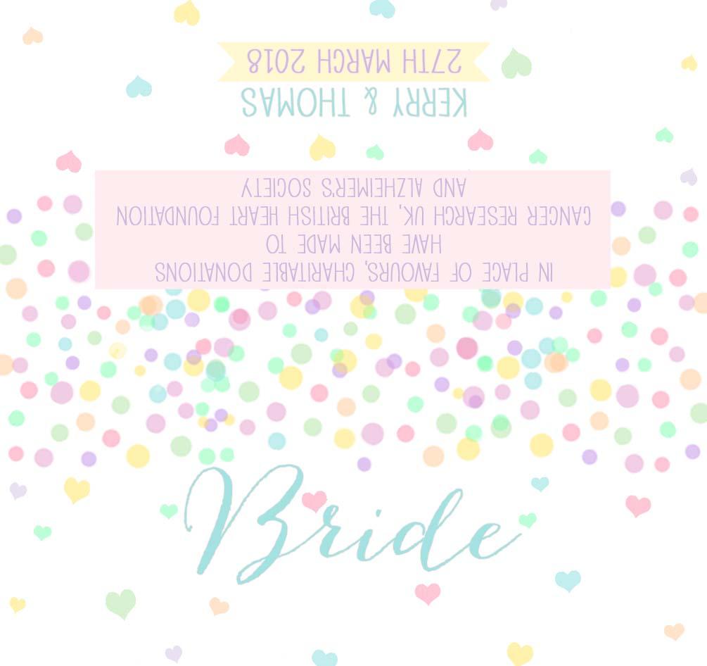 Candy Confetti Wedding Place Card
