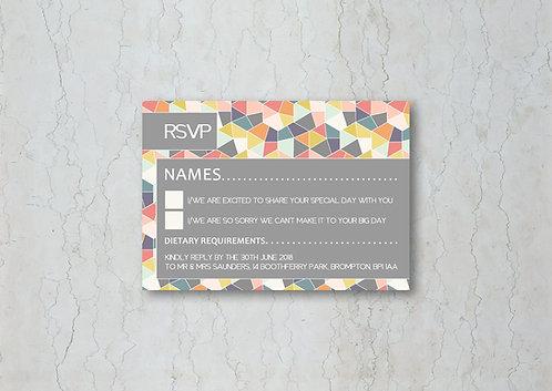 Geometrics Wedding Invitation RSVP