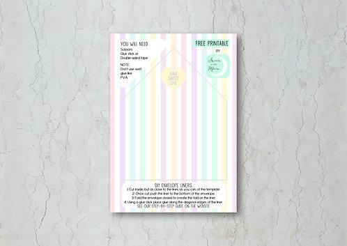Candy Confetti Wedding Invitation Envelope Liner