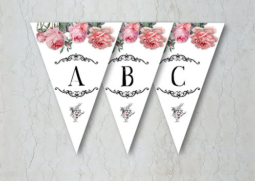 Alice in Wonderland Wedding Bunting