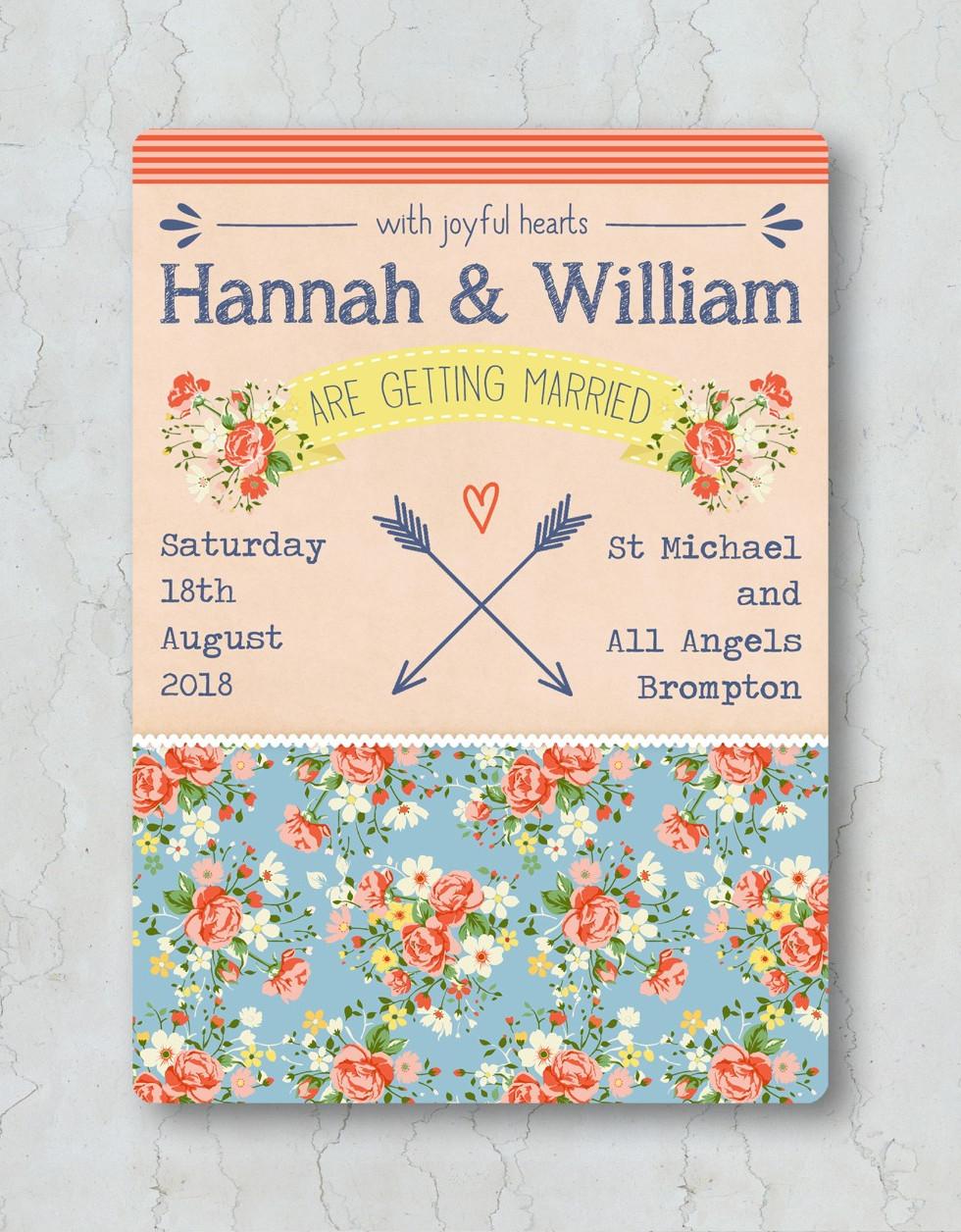 Rose & Arrows Wedding Invitation