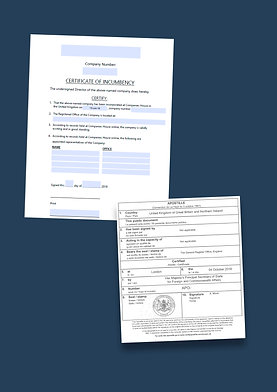 Certificate of Incumbency Apostille + Options