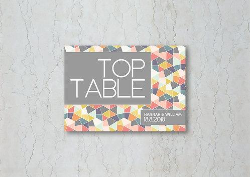 Geometrics Wedding Table Name