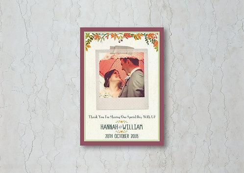 Autumn Wedding Thank You Card