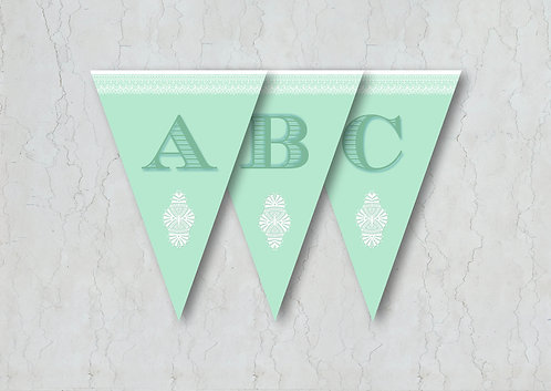 Classic Lace Wedding Bunting