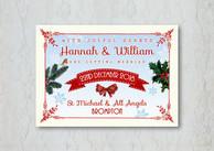 Traditional Christmas Wedding Stationery