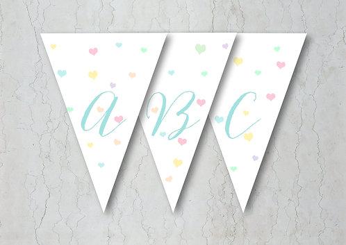 Candy Confetti Wedding Bunting