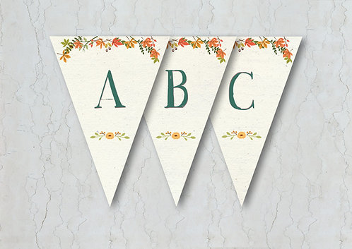 Autumn Wedding Bunting