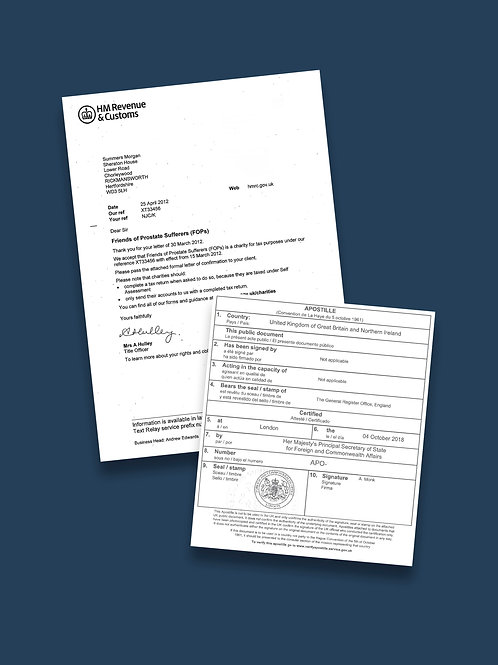 HMRC Letter Apostille + Options