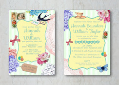 Vintage Scrapbook Wedding Invitation