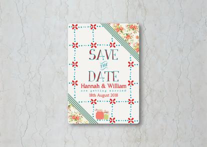 Summer Picnic Save the Date Wedding Invitation