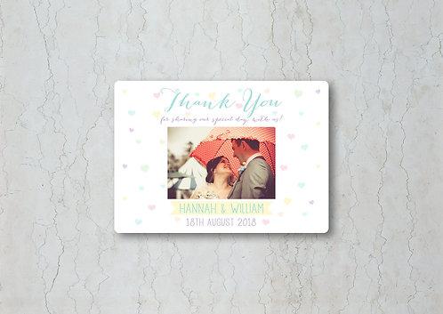 Candy Confetti Wedding Thank You Card