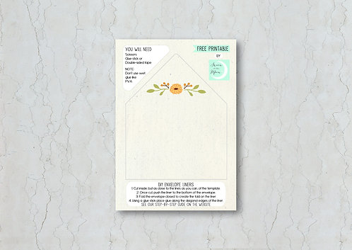 Autumn Wedding Invitation Envelope Liner