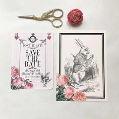 Alice in Wonderland Wedding Stationery