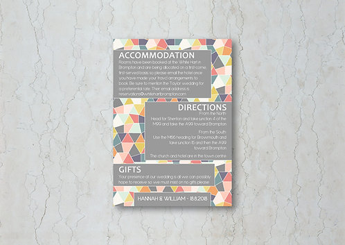 Geometrics Wedding Invitation Insert