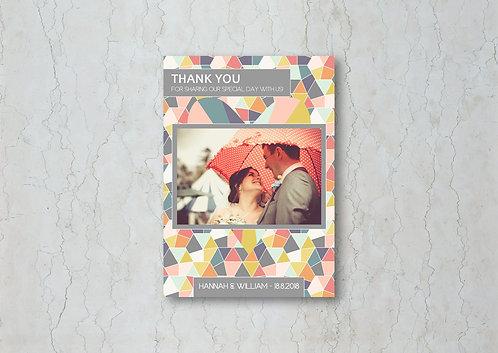 Geometrics Thank You Card