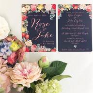 Vintage Wedding Stationery Floral