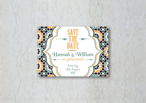 Moroccan Save the Date