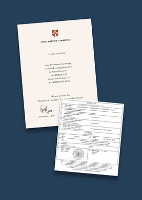 Degree Certificate Apostille + Options