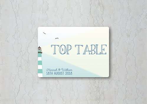 Nautical Wedding Table Name
