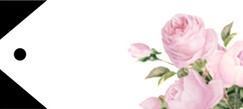 Coming Up Roses Jewellery Tag