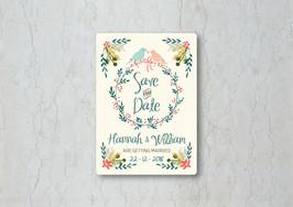 Winter Garden Save the Date Wedding Invitation