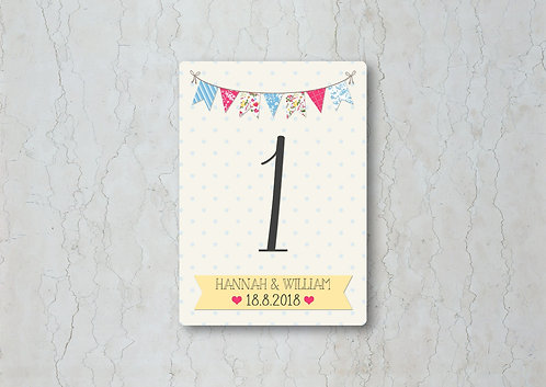 Fete Wedding Table Number