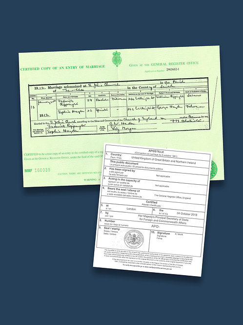 Marriage Certificate Apostille + Options