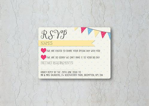 Fete Wedding Invitation RSVP