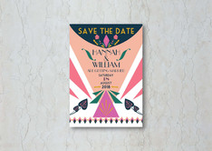 Glam Art Deco Save the Date Wedding Invitation