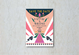Glam Art Deco Save the Date Wedding Invitation