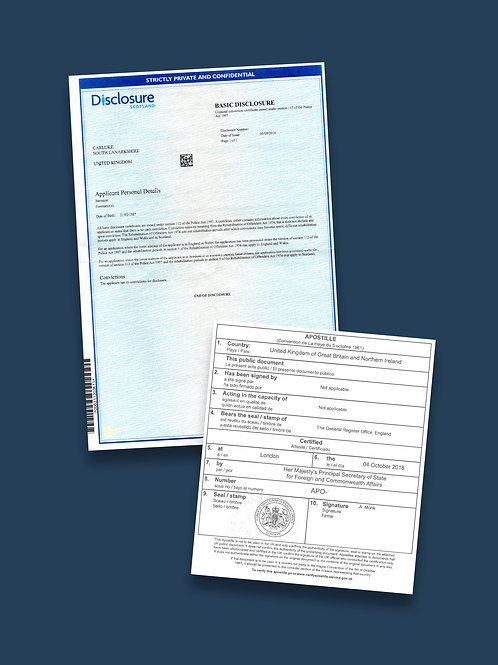 Disclosure Scotland Apostille + Options